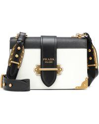 502d4daaf8ef7f Prada Cahier Leather Shoulder Bag in Brown - Lyst