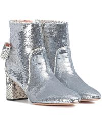 Rochas - Sequinned Ankle Boots - Lyst