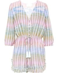 Athena Procopiou - Cosmic Dancer Striped Playsuit - Lyst