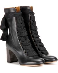 Chloé - Harper Leather Boots - Lyst