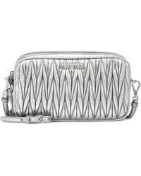 Miu Miu - Matelassé Leather Crossbody Bag - Lyst