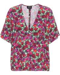 A.P.C. - Floral-printed Top - Lyst