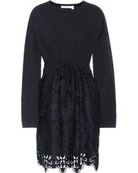 See By Chloé - Cotton Lace Minidress - Lyst