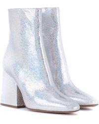 Maison Margiela - Ankle Boots aus Metallic-Leder - Lyst