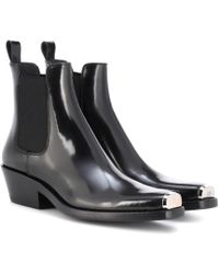 CALVIN KLEIN 205W39NYC - Western Claire Leather Ankle Boots - Lyst