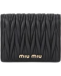 Miu Miu - Matelassé Leather Wallet - Lyst