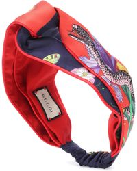 Gucci - Diadema de seda estampada - Lyst