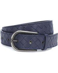 Bottega Veneta - Intrecciato Leather Belt - Lyst