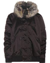 Yeezy - Faux-Fur-Trimmed Bomber Jacket - Lyst