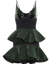 David Koma - Cady And Patent Leather Minidress - Lyst