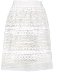 Burberry - Carwinley Lace Skirt - Lyst