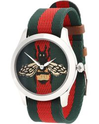 Gucci - Reloj de nylon y acero inoxidable G-Timeless - Lyst