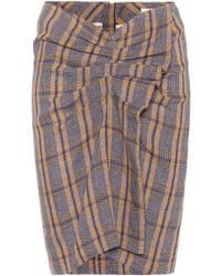 Étoile Isabel Marant - Ines Plaid Skirt - Lyst