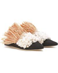 Exclusive to mytheresa.com - Stella embroidered velvet slippers Sanayi 313 KPQT0