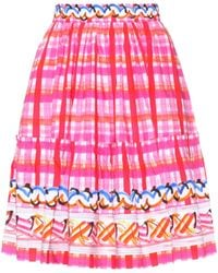 Peter Pilotto - Printed Cotton Skirt - Lyst