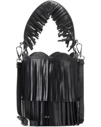 Miu Miu - Fringed Leather Bucket Bag - Lyst