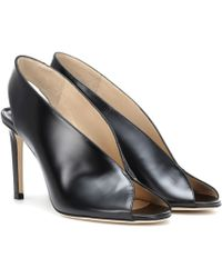 Jimmy Choo Shar 85 Leather Sandals