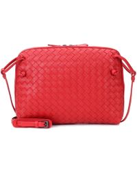Bottega Veneta - Nodini Intrecciato Leather Crossbody Bag - Lyst