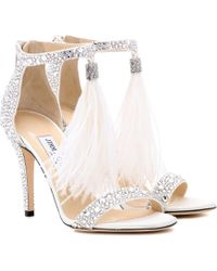 Jimmy Choo - Viola 100 Embellished Sandals - Lyst