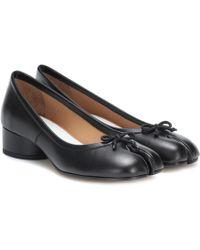 Maison Margiela - Tabi Leather Court Shoes - Lyst