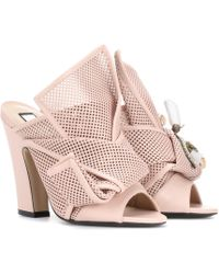 N°21 - Knotted Leather Open-toe Court Shoes - Lyst