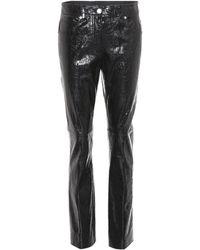 Helmut Lang - Patent Leather Trousers - Lyst