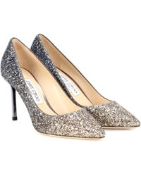 Jimmy Choo - Exclusive To Mytheresa – Romy 85 Glitter Pumps - Lyst