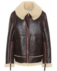 Acne Studios - Giacca in pelle e shearling - Lyst