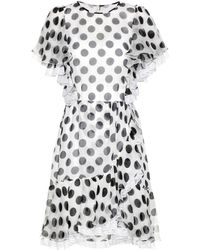Dolce & Gabbana - Polka-dotted Silk Dress - Lyst