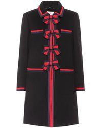 Gucci | Grosgrain-trimmed Wool Coat | Lyst