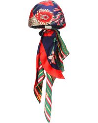 Gucci - Spring Bouquet Silk Turban - Lyst