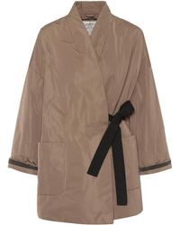 Brunello Cucinelli - Silk-blend Coat - Lyst
