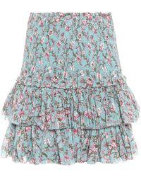 Étoile Isabel Marant - Naomi Printed Cotton Skirt - Lyst