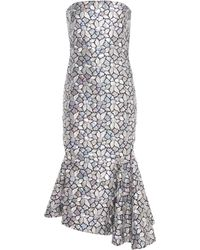 Balenciaga - Sequinned And Embroidered Silk Dress - Lyst