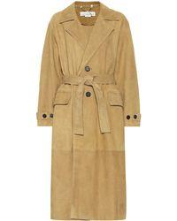 Golden Goose Deluxe Brand - Abrigo de gamuza con cinturón - Lyst