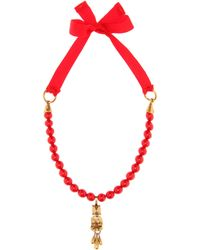 Valentino - Beaded Necklace - Lyst