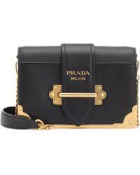 e7b76223a847 Lyst - Prada Cahier Velvet Shoulder Bag in Green