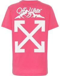 Off-White c/o Virgil Abloh - Exklusiv bei Mytheresa – Bedrucktes T-Shirt aus Baumwolle - Lyst