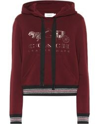 COACH - Rexy Embroidered Cotton Hoodie - Lyst