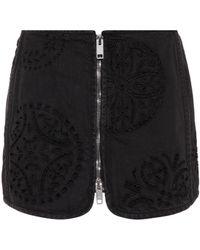 Isabel Marant - Rilzen Embroidered Denim Miniskirt - Lyst