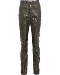 Acne Studios - Tugi Vinyl High-waisted Trousers - Lyst