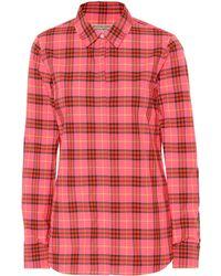 f11ecc009ea1 Burberry - Crow Check Cotton Shirt - Lyst