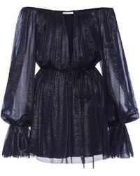 Mugler - Silk Off-the-shoulder Minidress - Lyst