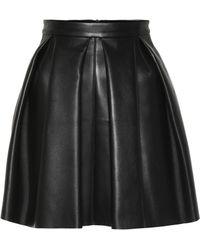 David Koma - Leather Miniskirt - Lyst
