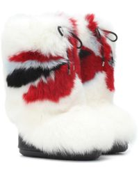 Moncler Grenoble - X Moon Boot® Stiefel aus Pelz - Lyst