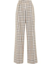 See By Chloé - Checked High-rise Straight Pants - Lyst