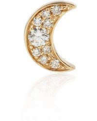 Sophie Bille Brahe - Claire De Lune 18kt Gold Single Earring With Diamonds - Lyst