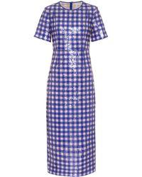 Diane von Furstenberg - Cossier-print Sequin-embellished Dress - Lyst