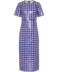 Diane von Furstenberg - Sequinned Tulle Dress - Lyst