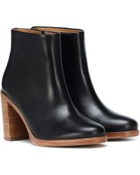 A.P.C. - Chic Leather Ankle Boots - Lyst